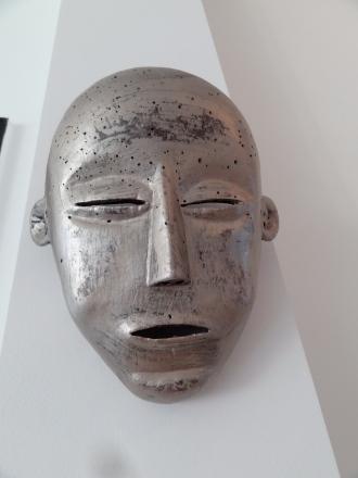 eigen bewerkt oud indonesisch masker
