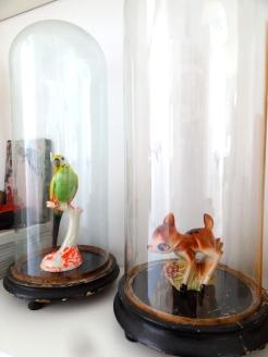 glazen stolpen afkomstig van de grootouders